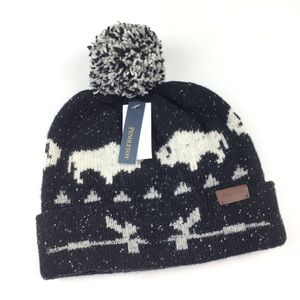 Pendleton Big Medicine Bear Wool Pom Beanie Hat